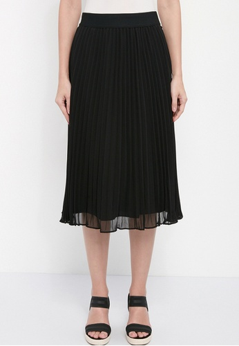 Dkny black DKNY Women Chiffon Pleated Skirt 830DFAA2646A4BGS_1