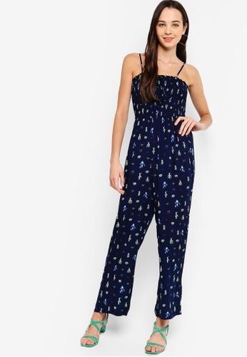 a94ab3e03451 Buy Something Borrowed Smocked Cami Jumpsuit Online on ZALORA Singapore