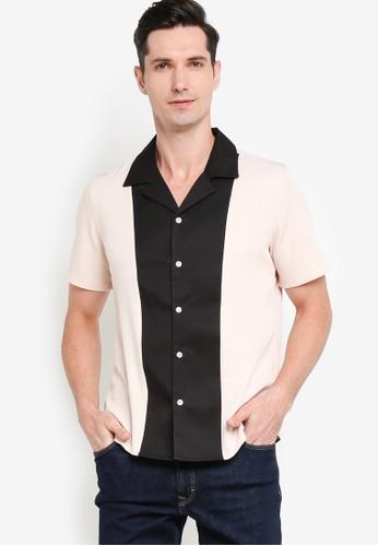 ZALORA BASICS multi Camp Collar Front Panel Shirt 0D099AA02A3A88GS_1