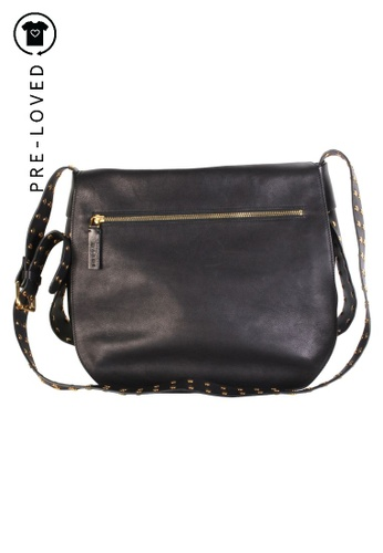 MARNI black Pre-Loved marni Black Leather Bag 13E22ACEA512D6GS_1