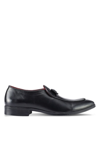 ACUTO black Leather Loafers AC283SH0SL5OMY_1