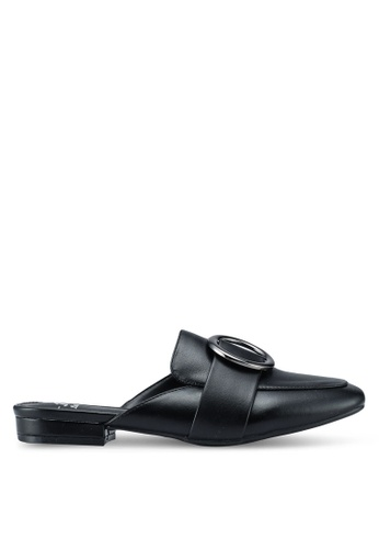 Bata black Backless Loafers 402D1SHF5FD9AAGS_1