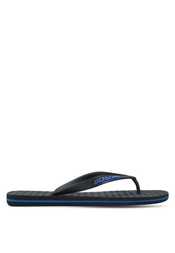 Jack & Jones grey Basic Flip-Flops B441DSH8F995F4GS_1
