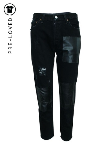Reformation black Pre-Loved reformation Black Pants with Leather Embellishments EDACDAACFEA86AGS_1