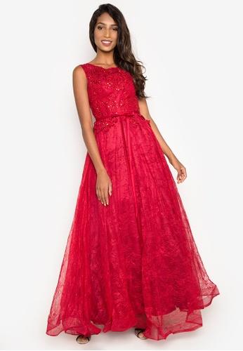 Bellabianca red Colin Dress BE045AA0IW3KPH_1