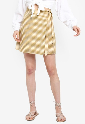 Cotton On 多色 格紋交叉短裙 ADA53AA8350DA9GS_1