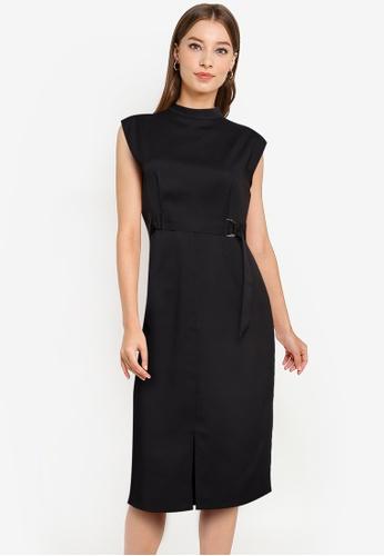 ZALORA WORK black D Ring Sheath Dress 64174AA2E59185GS_1