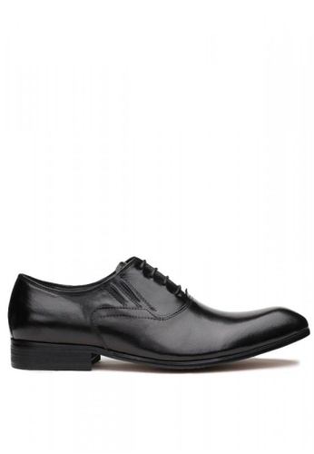 Kings Collection black Bruckner Leather Shoes DFEE2SHD95F5ABGS_1