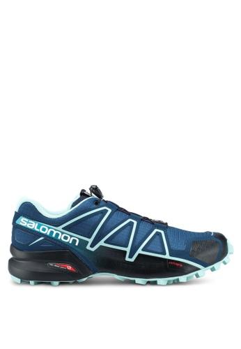 Salomon blue Speedcross 4 Wide W Shoes 181A3SHDD53E6DGS_1