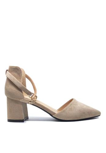 Twenty Eight Shoes 米褐色 尖頭中踭鞋883-1 E0AAASH1343660GS_1