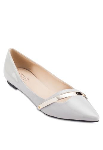 Cynthia Gold Detail Fesprit tote baglats, 女鞋, 芭蕾平底鞋
