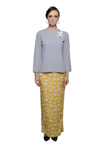 Fahima Kurung from Cahaya Lily in Grey