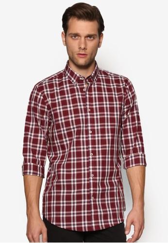 格紋長袖襯衫、 服飾、 襯衫BurtonMenswearLondon格紋長袖襯衫最新折價