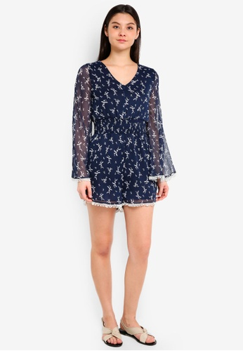 ac630135a3d Buy Cotton On Woven Laurie Long Sleeve V-Neck Playsuit Online on ZALORA  Singapore