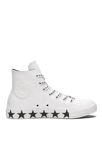 28b3a7baf703 Converse white Converse X Miley Cyrus Chuck Taylor All Star Stars Inspired  Hi Sneakers 46ADASH7F348ADGS 1