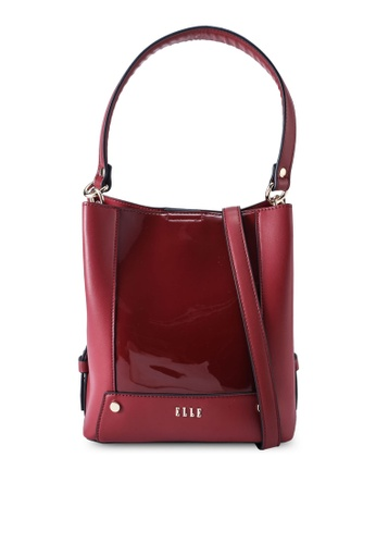 ELLE red Gloria Bucket Bag 66663AC92393D7GS_1