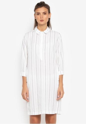 Susto The Label white Abilene Striped Dress D0C8AAA01006A4GS_1