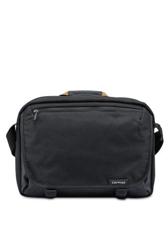 CRUMPLER black Strictly Business Messenger Bag 875B3AC3AB951CGS_1