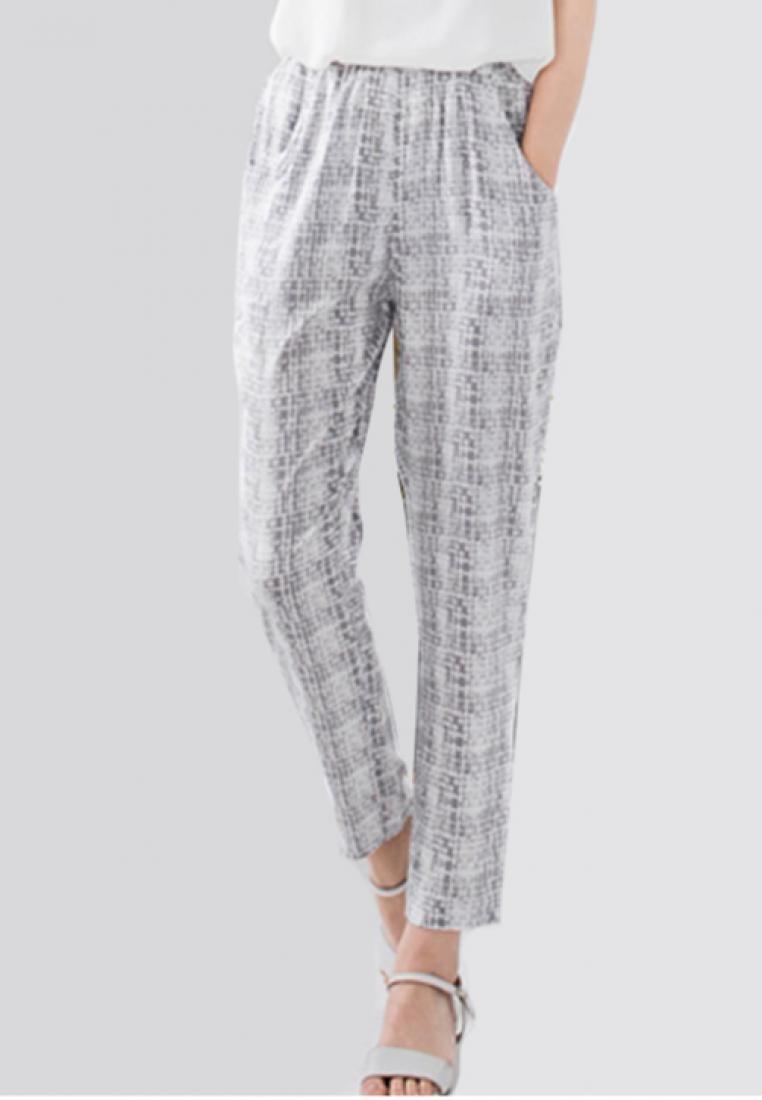 Grid Lines Printed Cool Pants