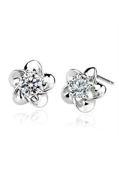 ea0e9ea5e9d1 Elitrend silver Sakura Crystal Ear Stud Earring In Silver 1DB5AAC02C9F63GS 1