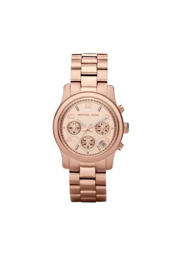 Runway三眼計時腕錶 MK5128, 錶zalora 手錶類, 時尚型
