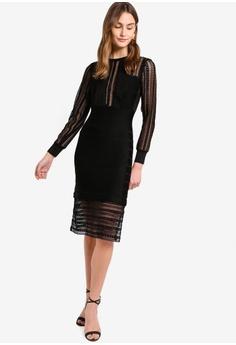 9db5f44e86c French Connection black Vivian Spotlight Knit Bodycon Dress  196B9AA72B4B3EGS_1