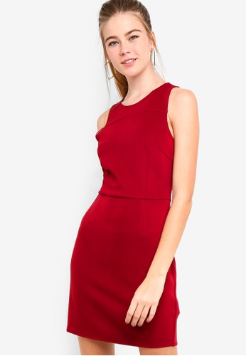 Something Borrowed 紅色 Scuba Bodycon Dress 2B3CCAAF35D399GS_1