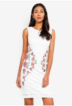 b2f636ccf1d5 Desigual white Valeria Anglaise Dress 5992EAA6425F9AGS 1
