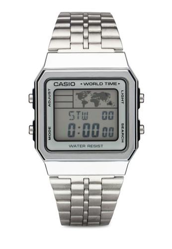 Casio silver Men's A500WA-7DF Classic Digital Display Quartz Watch CA843AC73XZQMY_1