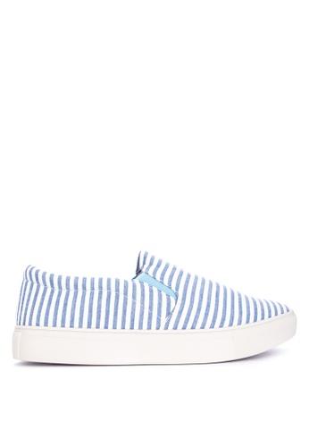 BENCH blue Striped Slip Ons 39C1ASH6B01417GS_1