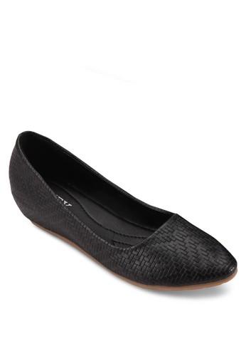 壓花紋理平底鞋, esprit outlet 家樂福女鞋, 厚底楔形鞋
