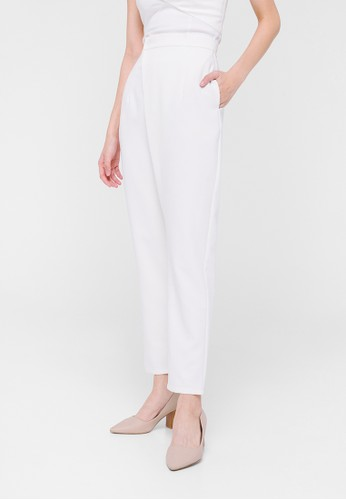 Love, Bonito white Meisel Crossover High Waist Pants BB2E7AAC7C97FBGS_1
