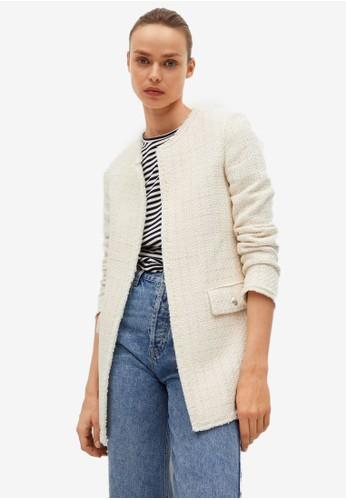 Mango beige Tweed Cotton Jacket 4212AAAC44E515GS_1
