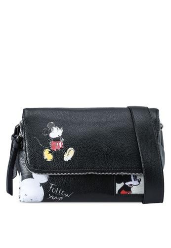 Desigual black Mickey Mouse Crossbody bag BA6FCAC4E165E3GS_1
