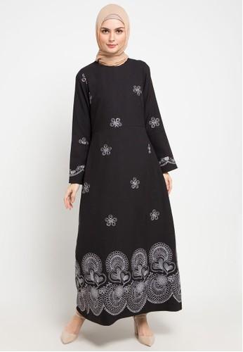AZZAR black and silver Ketki Maxi Dress 13137AA9346A1DGS_1