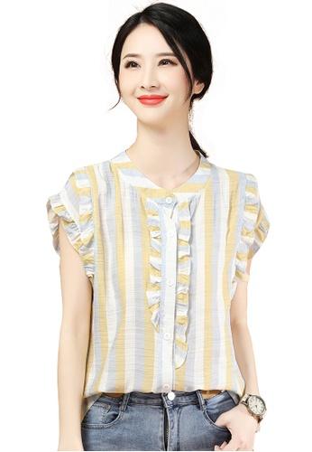 A-IN GIRLS multi Retro Striped Lace Shirt 291B5AAE0849CEGS_1