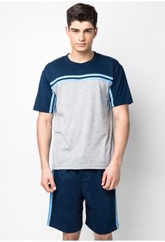 Knitted Pajama T-Shirt/Shorts Set