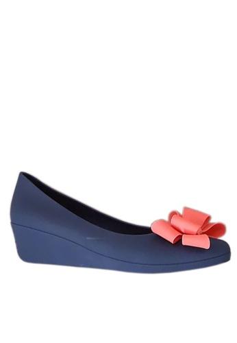 Twenty Eight Shoes 藍色 立體蝴蝶果凍膠船跟雨鞋 VRA840 DC855SH704A0FCGS_1