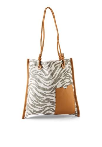 GLOBAL WORK beige Animal Shopper Bag 62434AC80E33EEGS_1
