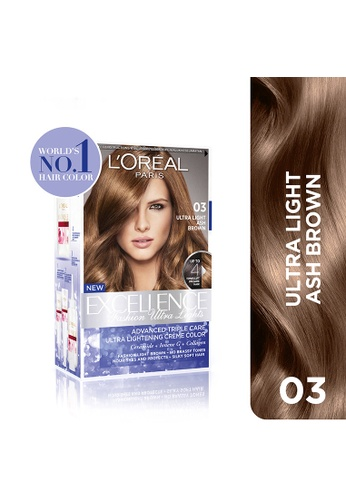 L'Oréal Paris n/a Excellence Fashion Ultra Lights - 03 Ash Brown [w/ Protective Serum & Conditioner] LO674BE0JIT4PH_1