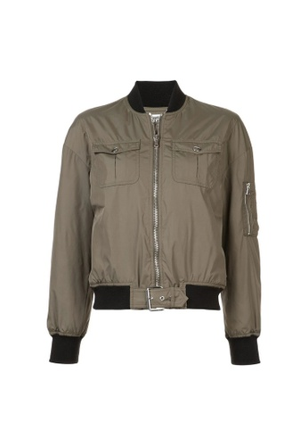 Moschino green Moschino Cropped Bomber Jacket in Green D8F2AAA5D2CE21GS_1