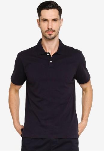 Gap navy Short Sleeves Jersey Polo Shirt 5A77FAA4826775GS_1