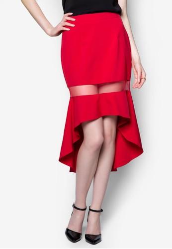 京站 esprit薄紗拼接魚尾裙, 服飾, 服飾