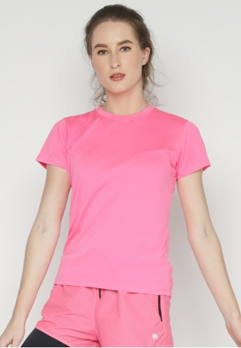 Corenation Active pink Running Jersey - Pink Neon 81327AAAE9F595GS_1