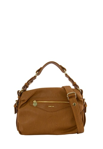 SEMBONIA brown SEMBONIA Synthetic Leather Hobo Bag (Brown) SE598AC0SBCBMY_1