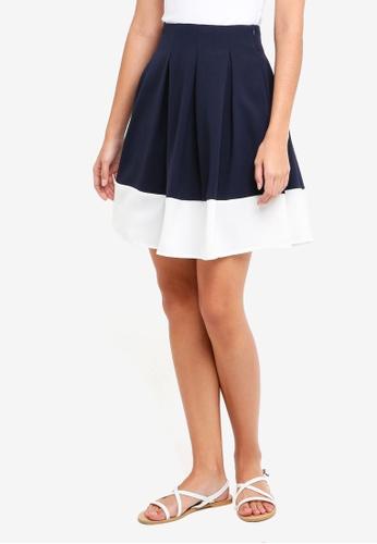 ZALORA multi Pleated Colourblock Skirt 8B41CAABD6346AGS_1