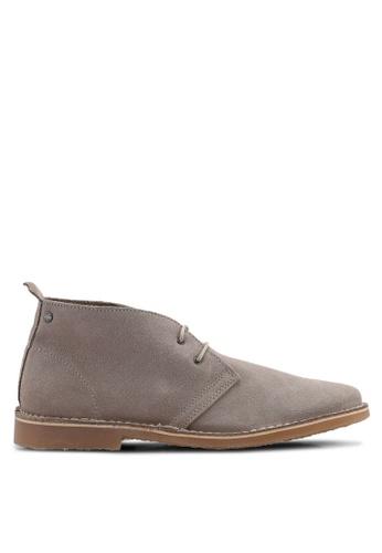 Jack & Jones brown Gobi Suede Boots 7CB3DSH3165D5BGS_1