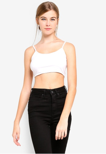 Factorie white Ultra Scoop Neck Crop Tank Top 2DD09AA237FD31GS_1