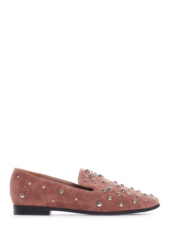 PAZZION pink Studded Slip-ons 12C90SHAA7A27CGS_1