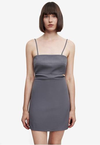 URBAN REVIVO grey Casual Dress E211FAAC768A57GS_1